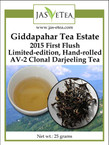 Giddapahar 2015 First Flush Darjeeling Tea - Limited-edition Hand-rolled AV-2 Clonal - 25g