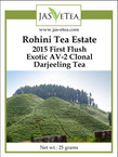 Rohini Tea Estate 2015 First Flush Darjeeling Tea - Exotic AV-2 Clonal - 25g