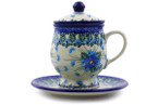 Tea Infusion Mug, 10 ounce - Polish Pottery - Pattern P8983A (2275X)