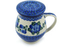 Tea Infusion Mug, 14 ounce - Polish Pottery - Pattern P1085A (163X)