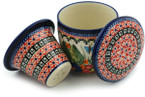 Tea Infusion Mug, 12 ounce - Polish Pottery -Pattern P4351A (149ART)