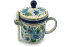 Tea Infusion Mug, 12 ounce - Polish Pottery - Pattern P4799A (165ART)