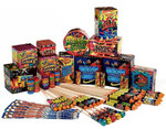 Monster Display Pack - 52 fireworks plus 20 giant sparklers - cheapest price in the UK?
