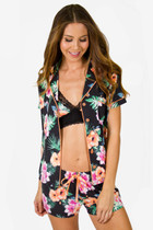 PJ Salvage - Black Floral Set