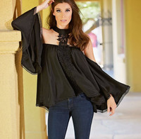 Union Of Angels Julieta Top - Black