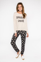 PJ Salvage Spread Love Long Sleeve Tee