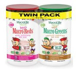 MacroLife Naturals Macro Coco Greens & Berri Reds Twin Pack of 2X 190 g