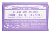 Dr Bronner's Lavender Pure Castile Bar Soap 140 Grams