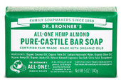 Dr Bronner's Almond Pure Castile Bar Soap 140 Grams