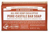 Dr Bronner's Eucalyptus Pure Castile Bar Soap 140 Grams