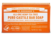 Dr Bronner's Tea Tree Pure Castile Bar Soap 140 Grams