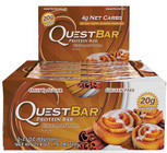 Quest Nutrition Cinnamon Roll Protien Bar Box of 12 x 60g