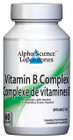 Alpha Science Vitamin B Complex 60 Veg Capsules