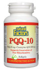 Natural Factors PQQ-10 - PQQ 20 mg Coenzyme Q10 200 mg 60 Softgels