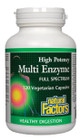 Natural Factors Multi Enzyme High Potency Full Spectrum 120 Veg Capsules