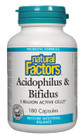 Natural Factors Acidophilus & Bifidus 5 Billion Active Cells 180 Capsules
