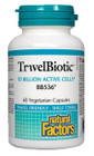Natural Factors TravelBiotic BB536 10 Billion active cells 60 Veg Capsules