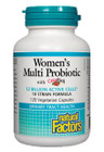 Natural Factors Women's Multi Probiotic With CranRich 12 Billion Active Cells 120 Veg Capsules