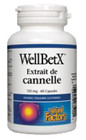 Natural Factors WellBetX Cinnamon Extract 150 mg 60 Capsules