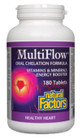 Natural Factors MultiFlow Oral Chelation Formula 180 Tablets