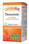Natural Factors CurcuminRich Theracurmin 120 Veg Capsules