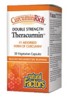 Natural Factors CurcuminRich Theracurmin Double Strength 30 Veg Capsules