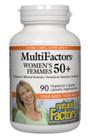 Natural Factors Women's 50+ MultiFactors 90 Veg Capsules