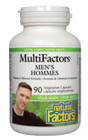 Natural Factors Men's MultiFactors 90 Veg Capsules