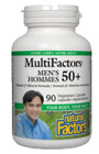 Natural Factors Men's 50+ MultiFactors 90 Veg Capsules