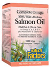 Natural Factors Complete Omega 100% Wild Alaskan Salmon Oil 1300 mg 220 Softgels