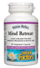 Natural Factors Stress-Relax Mind Retreat 60 Veg Capsules