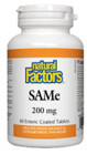 Natural Factors SAMe 200 mg 60 Enteric Coated Tablets