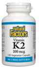 Natural Factors Vitamin K2 100 mcg 120 Veg Capsules