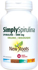 New Roots Simply Spirulina 1000 mg 90 Tablets