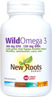 New Roots Wild Omega 3 180 mg EPA 120 mg DHA 180 Softgels