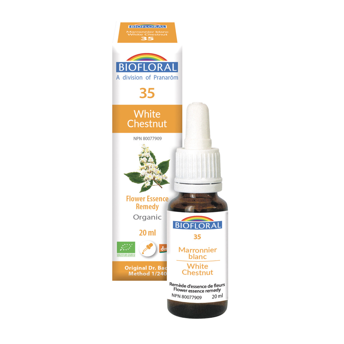 Biofloral No 35 White Chestnut Organic Flower Essence Remedy 20 Ml