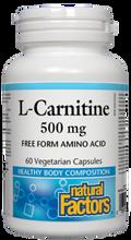 Natural Factors L-Carnitine 500 mg 60 Veg Capsules
