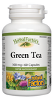 Natural Factors HerbalFactors Green Tea 300 mg 60 Capsules