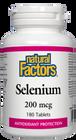 Natural Factors Selenium 200 mcg 180 Tablets