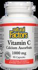 Natural Factors Vitamin C 1000 mg Calcium Ascorbate 180 Capsules