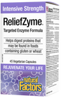 Natural Factors ReliefZyme Intensive Strength 45 Veg Capsules