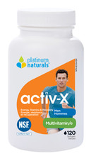 Platinum Naturals Activ X Multivitamin For Men 120 Softgels