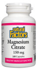 Natural Factors Magnesium Citrate 180 Capsules