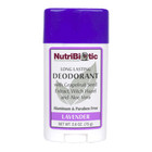 NutriBiotic Long Lasting Deodorant Lavender 2.6 OZ