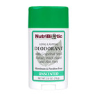 NutriBiotic Long Lasting Deodorant Unscented 2.6 Oz