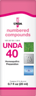 Unda 40 - 20 ml (0.7 fl oz)