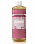 Dr Bronner's Organic Rose Pure Castile Liquid Soap 32 Oz ( 944 ml )
