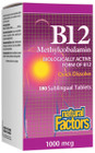 Natural Factors Vitamin B12 Methylcobalamin 1000 mcg