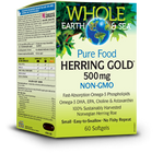 Whole Earth & Sea Herring Gold 500 Mg 60 Softgels By Natural Factors