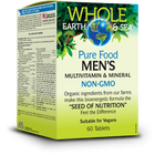 Whole Earth & Sea Men's Multivitamin & Mineral 60 Tablets By Natural Factors
